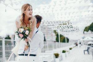 Braut mit Ehemann